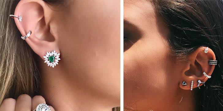 piercing de pressão da moda francisca joias