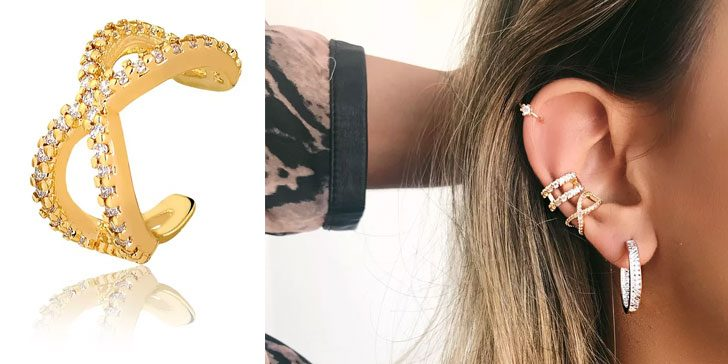piercing de pressão de orelha francisca joias