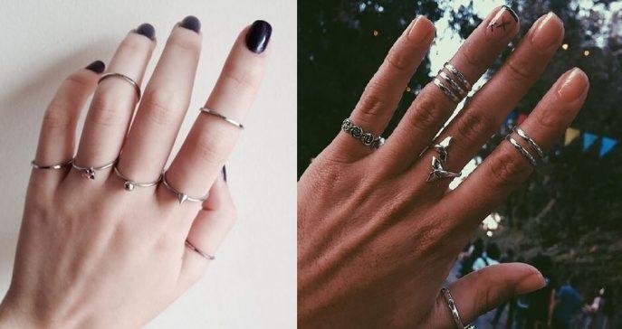 Modelos de como usar mix de anéis