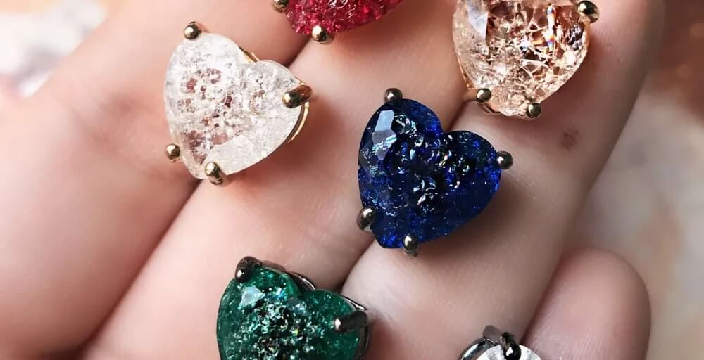 Brincos de pedra fusion coloridas