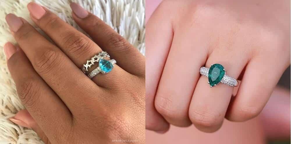 Modelos de anéis com pedra fusion