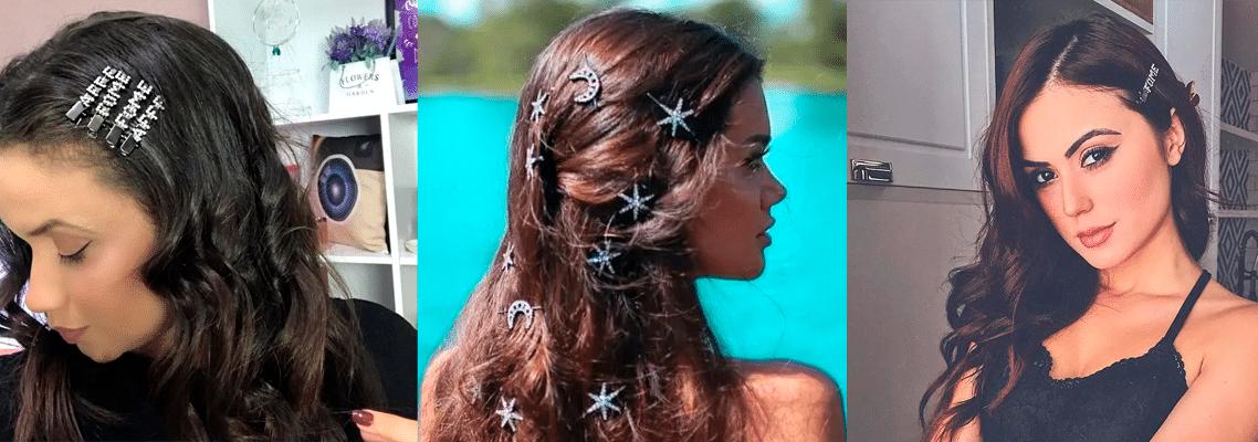 Tendências de presilhas de cabelo
