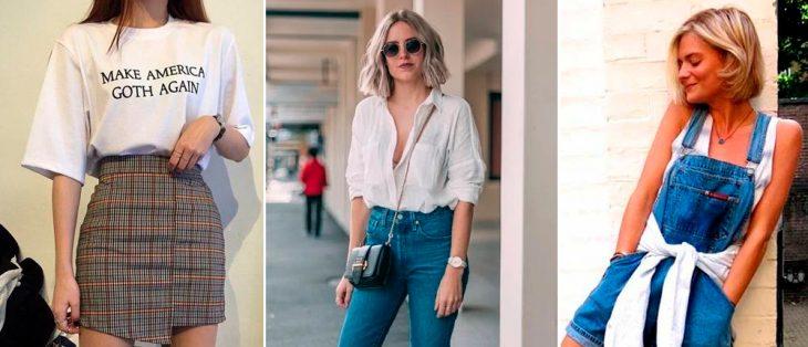 imagem de mulher usando roupas no estilo anos 80 e 90
