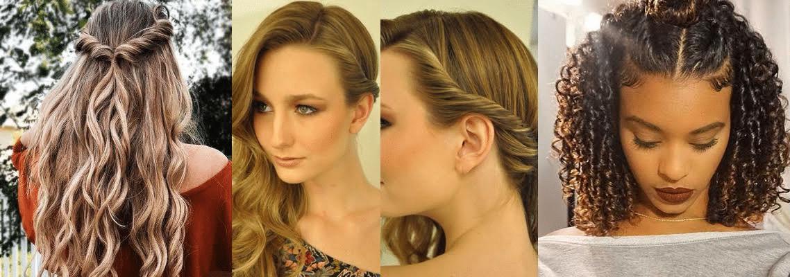 diferentes estilos de penteados torcidinhos em três modelos diferentes