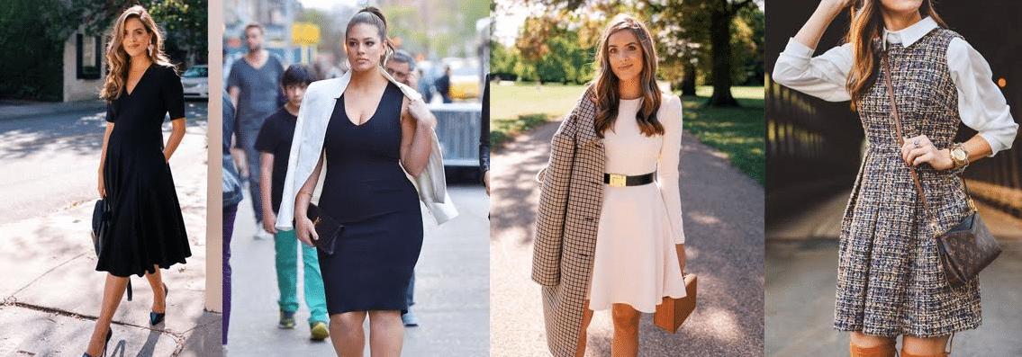 modelos com exemplos de looks com vestidos