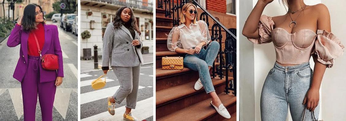 modelos usando diferentes tipos de ombreiras em diveroso tipos de roupas da moda anos 80