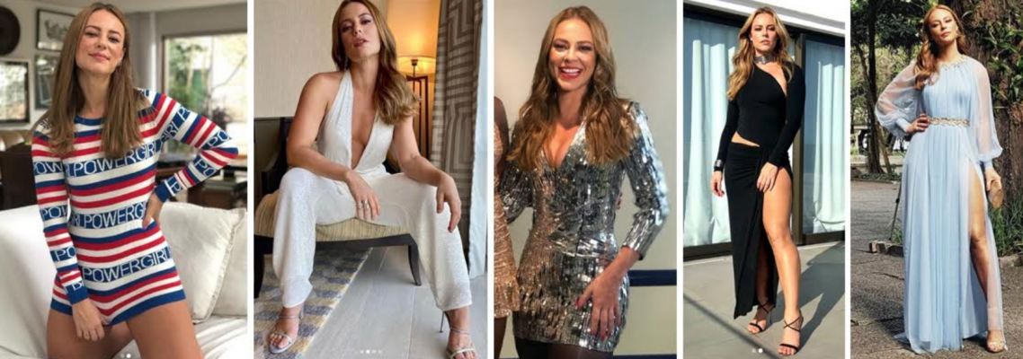 cinco fotos da aytraiz paolla oliveira trajando roupas diferentes