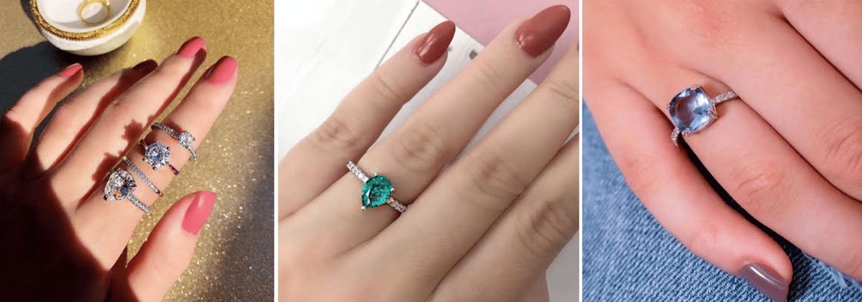 imagens de anéis delicados e minimalistas