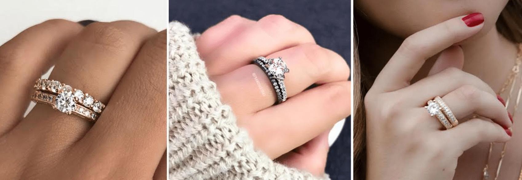 imagem de modelos de anéis aparadores de aliança