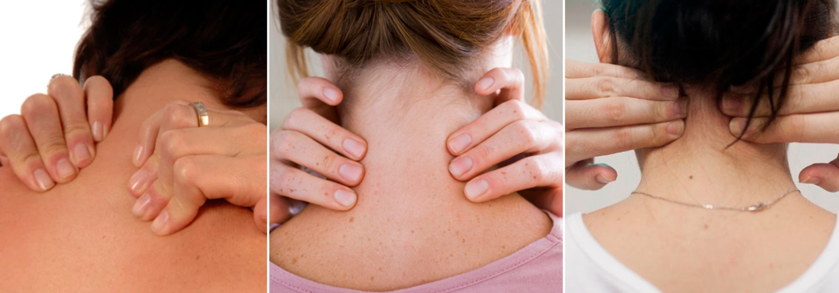 mulheres fazendo massagem seu pescoço