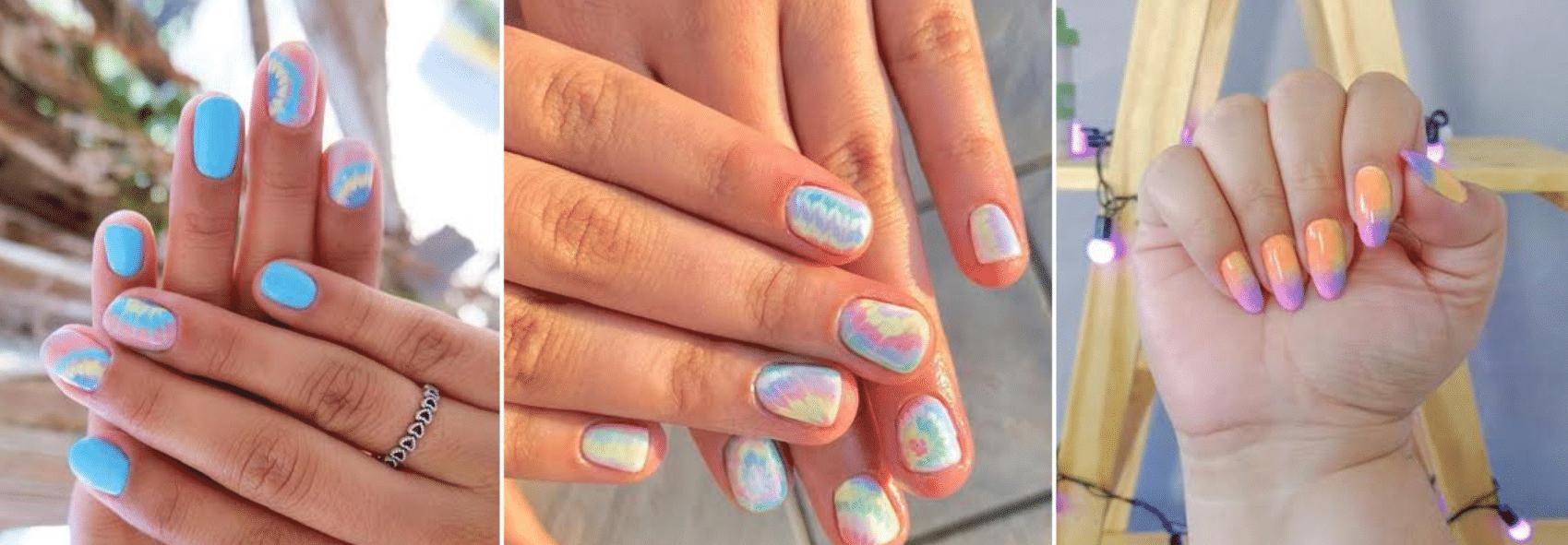 fotos de unhas decoradas com tie dye