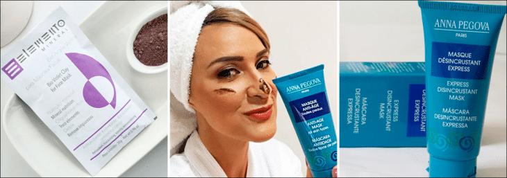 imagem de mulher com toalha na cabeça usando máscaras faciais de anna pegova