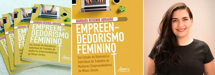 três fotos com a capa e com a autora da obra empreendedorismo feminino