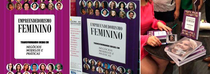 três fotos da capa do livro empreendedorismo feminino