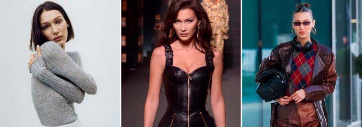 três fotos da modelo internacional Bella Hadid